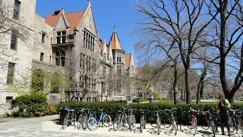 Kent Hall at the University of Chicago in Hyde Park